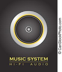 högtalare, musik system