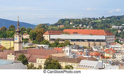 höher, linz, landtag, (parliament), österreich, cityscape,...