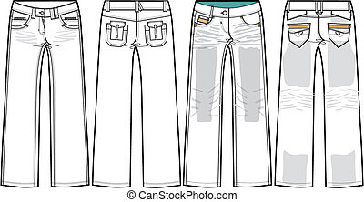 höhlen jeans, damen