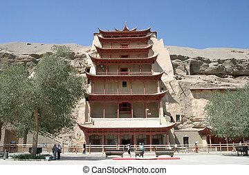 höhlen, porzellan, dunhuang, mogao