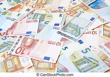 höjande, noteringen, bank, yta, euro