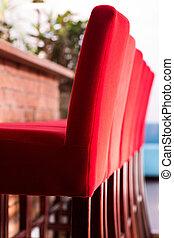 höjdpunkt stol, röd