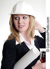 hölgy, építészmérnök