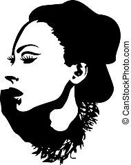 hölgy, graphic tervezés, mód