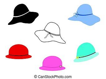 hölgy kalap