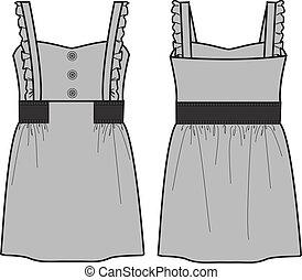 hölgy, ruha, fasion, a-line