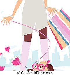 hölgyek, bevásárlás