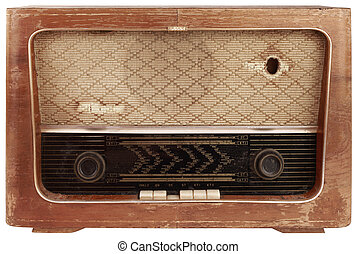 hölzern, altes , freisteller, radio