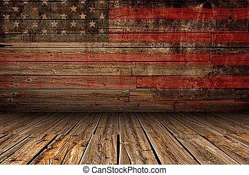 hölzern, amerikanische , buehne