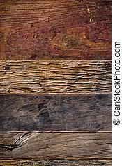 hölzern, antikisiert, hintergrund, oben, planken