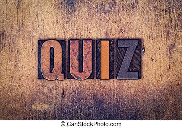 hölzern, begriff, art, briefkopierpresse, quiz