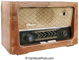 hölzern, freisteller, radio