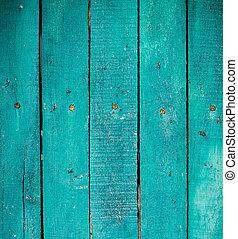 hölzern, grün, planken