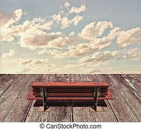 hölzern, himmelsgewölbe, sitz