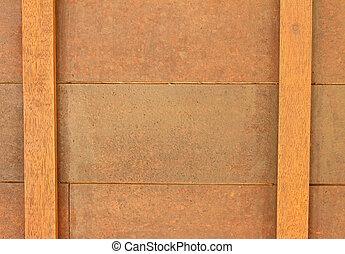 hölzern, licht, brown., bretter, hintergrund