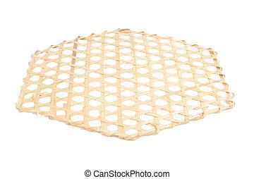 hölzern, net., weißes, lattice., hintergrund