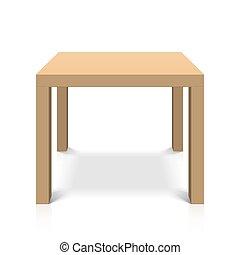 hölzern, quadrat, tisch