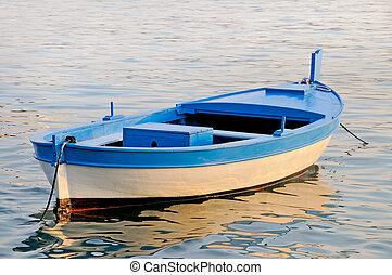 hölzern, rowboat, altes