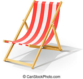 hölzern, sandstrand, chaise lang