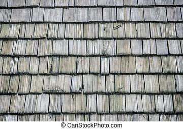 hölzern, schindeln, dach