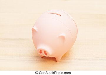 hölzern, Tisch, Schweinchen,  bank