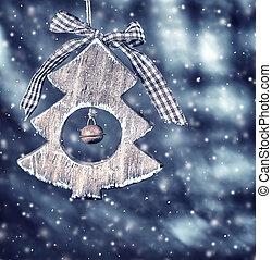 hölzern, weihnachtsbaum dekoration