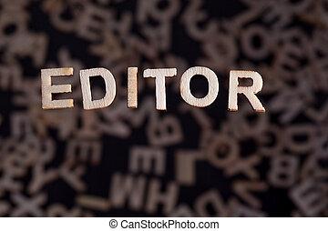 hölzern, wort, briefe, redakteur