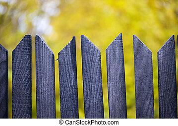 höst, bakgrund, staket