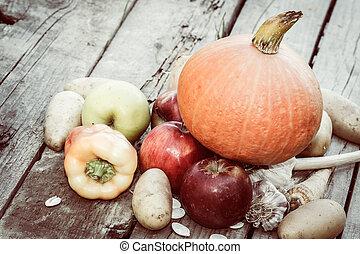 höst, grönsaken