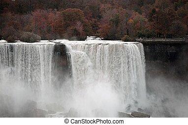 höst, niagara vattenfallen