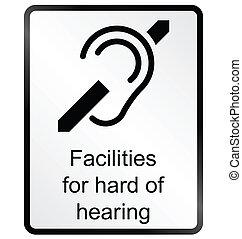 hørehæmmet, information underskriv