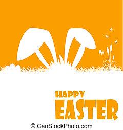 húsvét, ábra, boldog, kártya