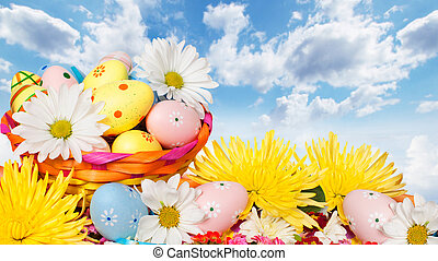 húsvét, eggs.