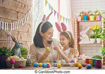 húsvét, előkészítő, család