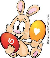 húsvét, elszigetelt, nyugat, befolyás, tojás, nyuszi