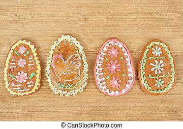 húsvét, gingerbreads