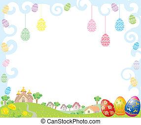 húsvét, keret