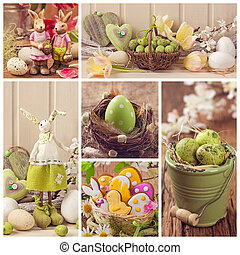 húsvét, kollázs