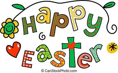 húsvét, művészet, csíptet, boldog