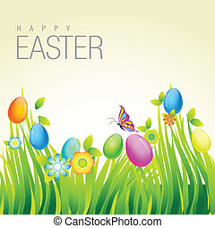 húsvét, tervezés, színes