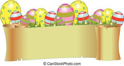 húsvét, transzparens