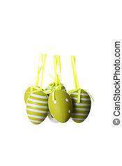 húsvét, zöld, ikra, decoration.