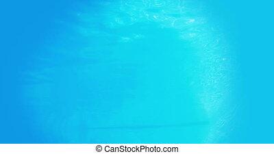 hübsch, brünett, tauchen, underwater, ich