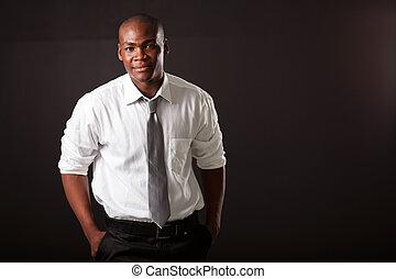 hübsch, junger, afrikanischer amerikanischer mann