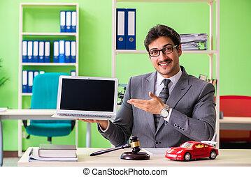 hübsch, rechtsanwalt, arbeits büro, junger