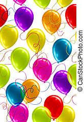 hübsch, seamless, balloon, hintergrund