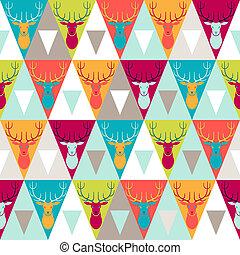 hüfthose, stil, pattern., seamless