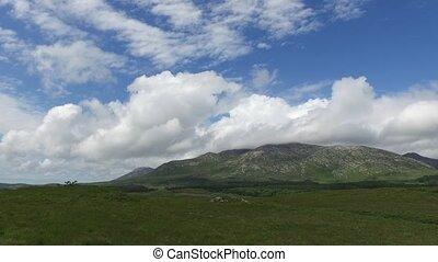 hügel, und, ebene, von, connemara, in, irland