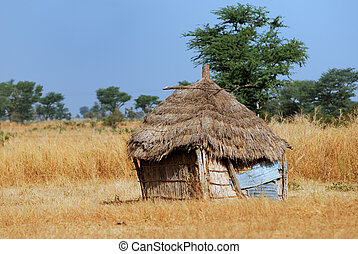 hütte, afrikanisch