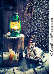 hütte, hygge, philosophie, cozy, winter